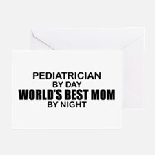 World's Best Mom - PEDIATRICIAN Greeting Cards (Pk