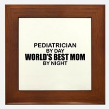 World's Best Mom - PEDIATRICIAN Framed Tile