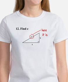 Right Triangle Find C or Find Women's T-Shirt