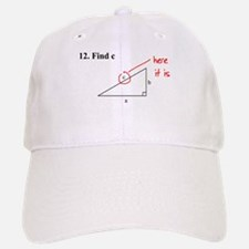 Right Triangle Find C or Find Baseball Baseball Cap