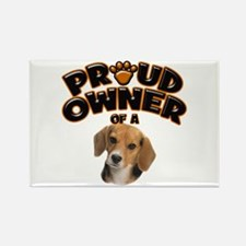 Proud Owner of a Beagle Rectangle Magnet