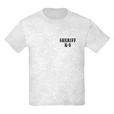 Sheriff K-9 / BROWN Paw Print T-Shirt
