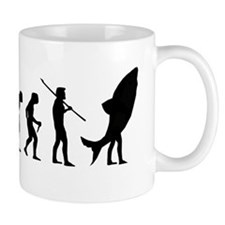 Evolution Shark Costume Land Mug