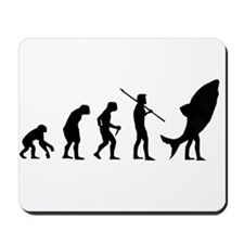 Evolution Shark Costume Land Mousepad