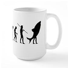 Evolution Shark Costume Land Mug