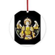 Guardian Angel Golden St. Mic Ornament (Round)