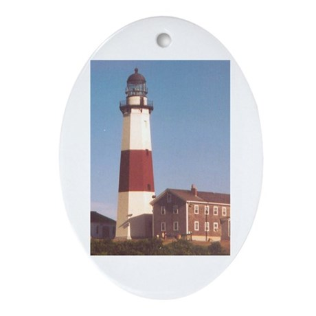 Montauk Lighthouse Ornament (Oval)