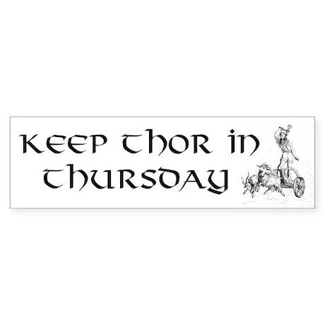 Thor Bumper Sticker