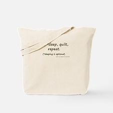 Eat, *Sleep, Quilt, Repeat Tote Bag