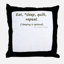 Eat, *Sleep, Quilt, Repeat Throw Pillow
