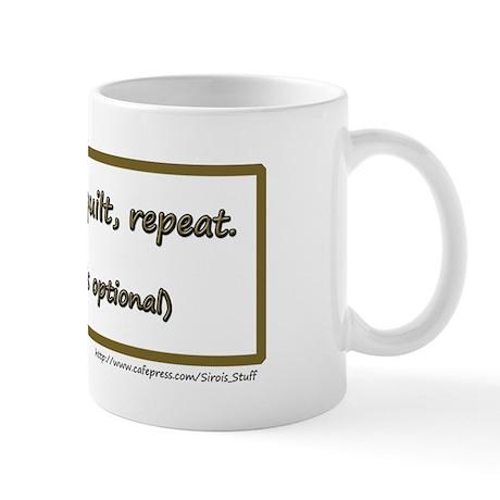 Eat, *Sleep, Quilt, Repeat Mug