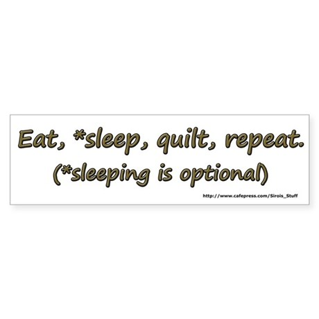 Eat, *Sleep, Quilt, Repeat Sticker (Bumper 50 pk)