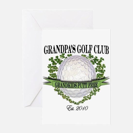 Grandpa's Golf Club 2010 Greeting Card