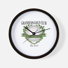 Grandpa's Golf Club 2010 Wall Clock