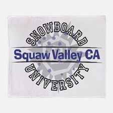 Snowboard Squaw Valley CA Throw Blanket