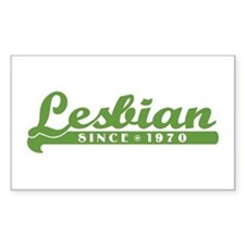 Lesbian Since 1970 Rectangle Decal