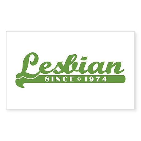 Lesbian Since 1974 Rectangle Sticker