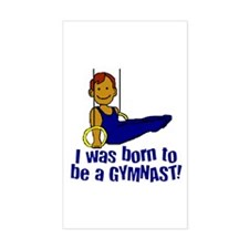 Born to be a Gymnast Jacob Rectangle Decal