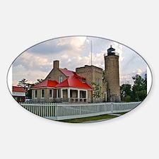 Mackinaw City Light house Decal