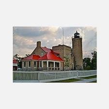 Mackinaw City Light house Rectangle Magnet