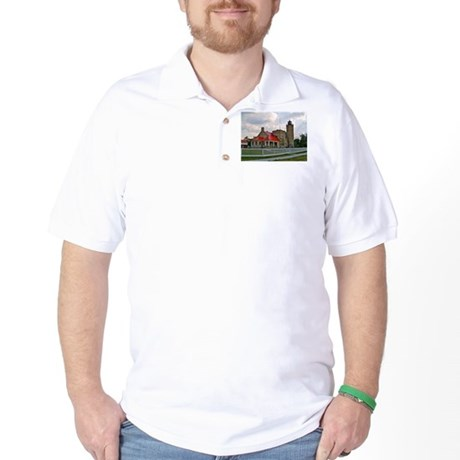 Mackinaw City Light house Golf Shirt