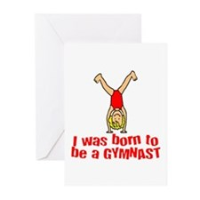 Born to be a Gymnast Isabella Greeting Cards (Pack