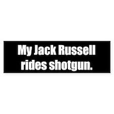 My Jack Russell rides shotgun (Bumper Sticker)