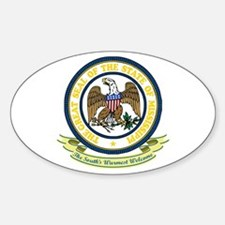 Mississippi Seal Sticker (Oval)