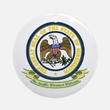 Mississippi Seal Ornament (Round)