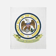 Mississippi Seal Throw Blanket