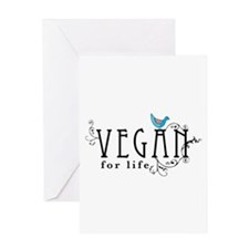 Vegan for life Greeting Card