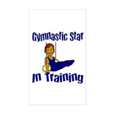 Gymnastic Star in Training Jacob Sticker (Rectangu