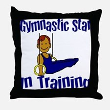Gymnastic Star in Training Jacob Throw Pillow