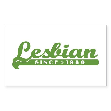 Lesbian Since 1980 Rectangle Sticker