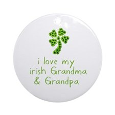 I Love my Irish Grandma & Gra Ornament (Round)