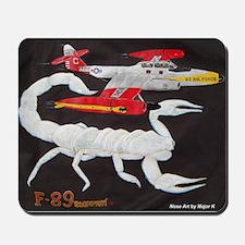 F-89 Scorpion Nose Art Mousepad