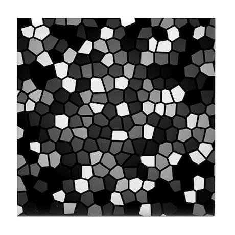 Black and White Mosaic Tile Coaster