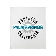 Palm Springs California Throw Blanket