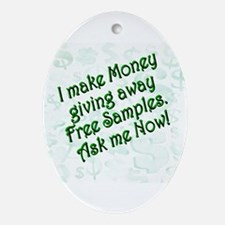 Money Samples Ornament (Oval)