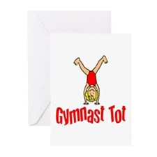 Gymnast Tot Isabella Greeting Cards (Pk of 10)