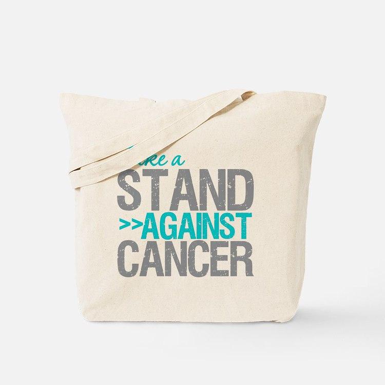 Take a Stand Ovarian Cancer Tote Bag