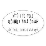 DESIGNER ANGST Oval Sticker