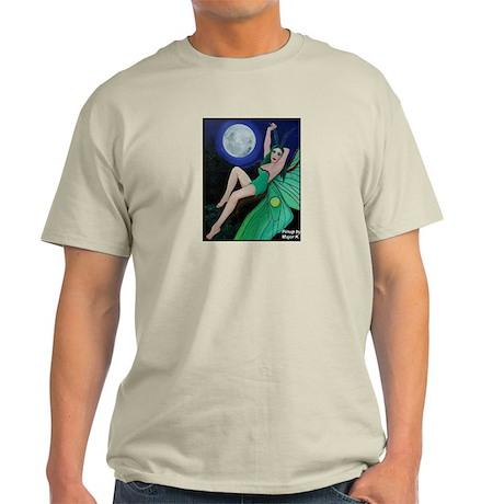 Luna Moth Fairy Pinup Light T-Shirt