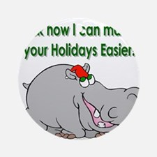 Easier Holiday Income Ornament (Round)