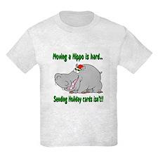 Send Hippo Xmas Cards T-Shirt