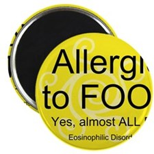 "Unique Food allergy 2.25"" Magnet (10 pack)"