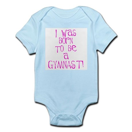 Born to be a Gymnast Pink Infant Creeper