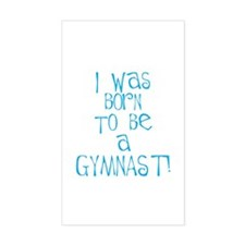 Born to be a Gymnast Blue Rectangle Sticker