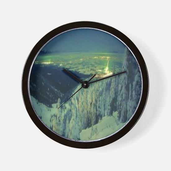 Big Mountain Night Wall Clock