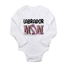 Labrador MOM Long Sleeve Infant Bodysuit